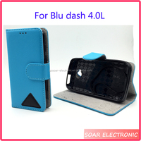Crazy horse leather wallet case for Blu dash L,Strong magentic flip cover for Blu dash L/D050U