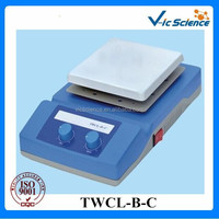 TWCL-B-C-180x180mm Temperature adjustable magnetic stirring laboratory hot plate