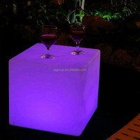 led indoor/outdoor furniture illuminated led cube/stool/side table