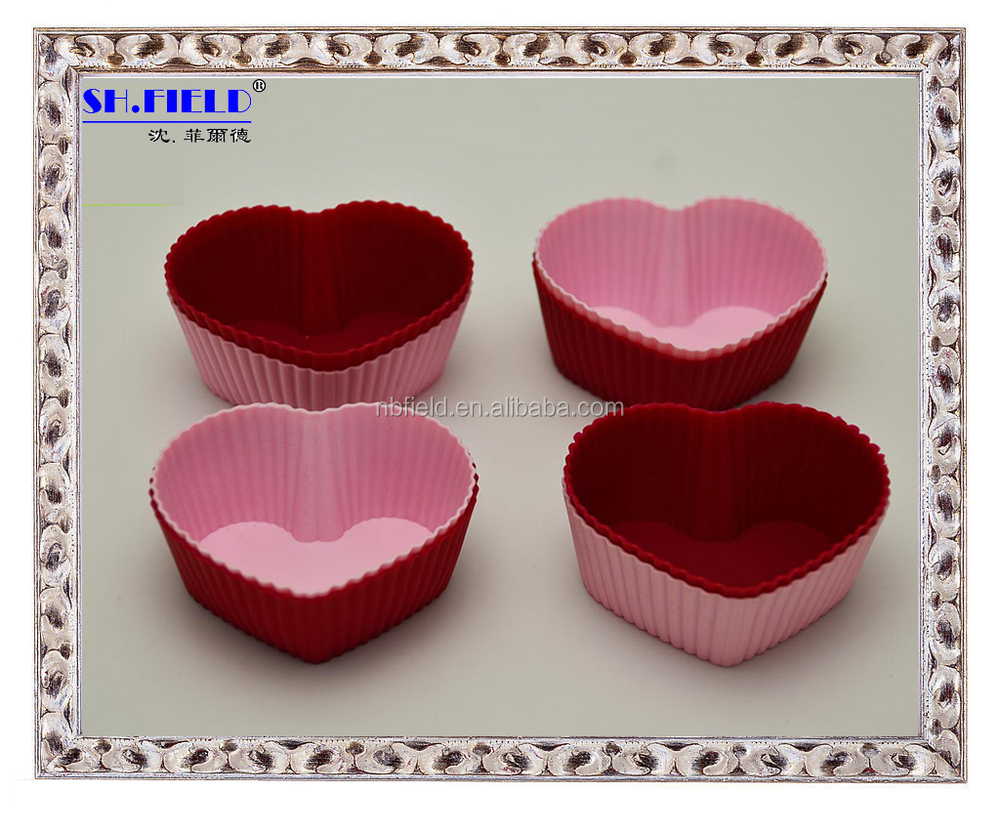 High Quality flower shape Silicone muffin cup