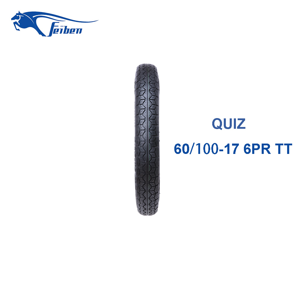 CHINESE MOTORCYCLES FOR SALE 60/100-17 QUIZ RUBBER MOTORCYCLE TIRES CHEAP TIRES