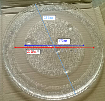 28.5cm 6fixers microwave oven parts, glass plate, microwave oven glass tray