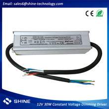 0-10v dimming single color led dimmer driver, 30w dimmable led driver 12v pfc function 3 years warranty for led strip led module