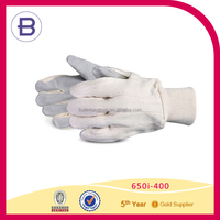 Cheap Cotton Knitted Safety White Working Glove