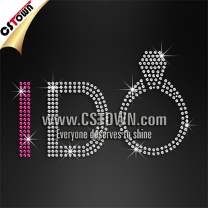 Rhinestone bling letters custom hotfix t shirt transfers wholesale for love