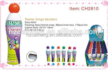 glitter ink bingo marker pen or daubers for bingo game, Popular Novelty Dabber CH2810