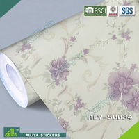 Wallcovering factory wholesale fireproof plastic decorative reflective self adhesive vinyl film