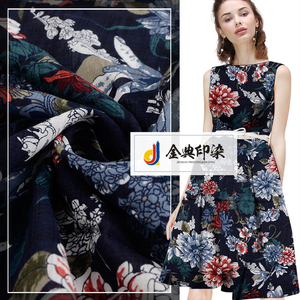 Competitive price beautiful 100% cotton border floral african print dress fabric sale
