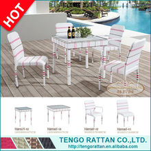 fishtail weaven rattan outdoor table and chairs (TG0156T)