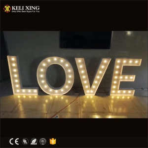 Custom LOVE Huge Marquee Lighted Metal Signs Letters With led Lights