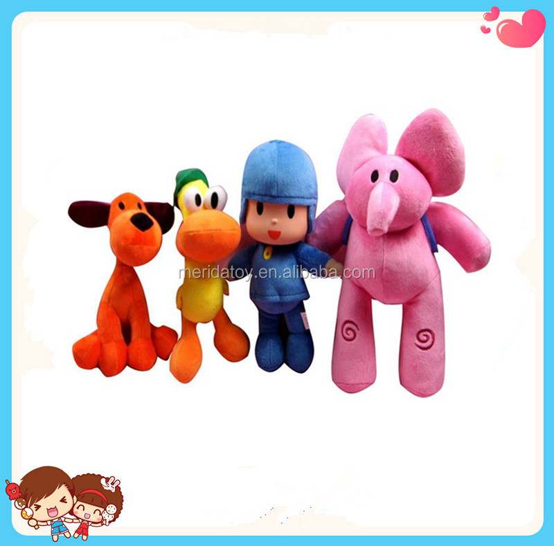 Wholesale Custom Cartoon Pocoyo Dolls Stuffed Plush Elephant Toys For Kids