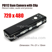 720 x 480 Video Chewing Gum and Audio Recording Pinhole Hidden Camera with Clip