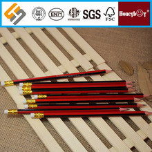fancy thin stripped oem pencil with yellow metal ferrule