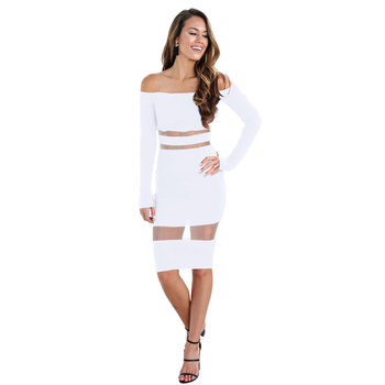 Spring 2019 hot style white dresses for woman