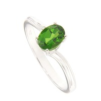 Natural Chrome Diopside Fashion Wedding Ring 18K Gold Jewelry