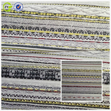 2017 latest design rayon polyester woven jacquard fabric for garment