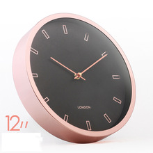 new copper satin finishing retro rose gold bronze wall clock 12 inch