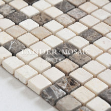 color mixing emperador dark and light kitchen backsplash marble tile