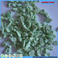 Superior service transparent light green tumbled glass for garden,yellow tumbled glass for landscaping