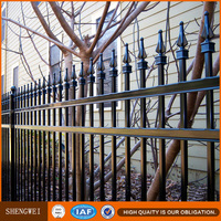 Ornamental steel pipe fence design