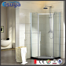 2016 promote frameless clear glass shower door, simple shower three sides