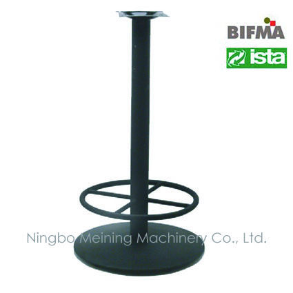 "41"" Round Bar Height Cast Iron Table Base With Footrest"