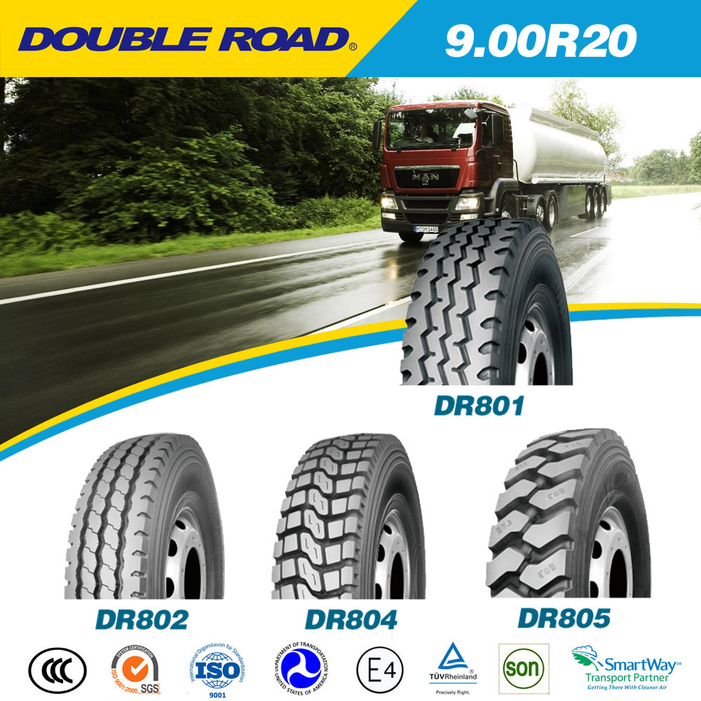 china heavy transport tire manufacture 9.00R20 tyres for sale
