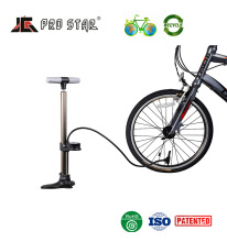 High end Aluminum bicycle frame parts bicycle floor pump with pressure gauge