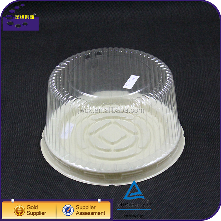Wholesale OEM Food Grade BOPS Plastic Cake Box Packaging Container