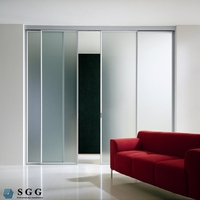 High strength clear tempered glass for doors