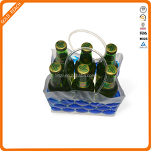 PVC 6 pack beer bottle cooler holder bag