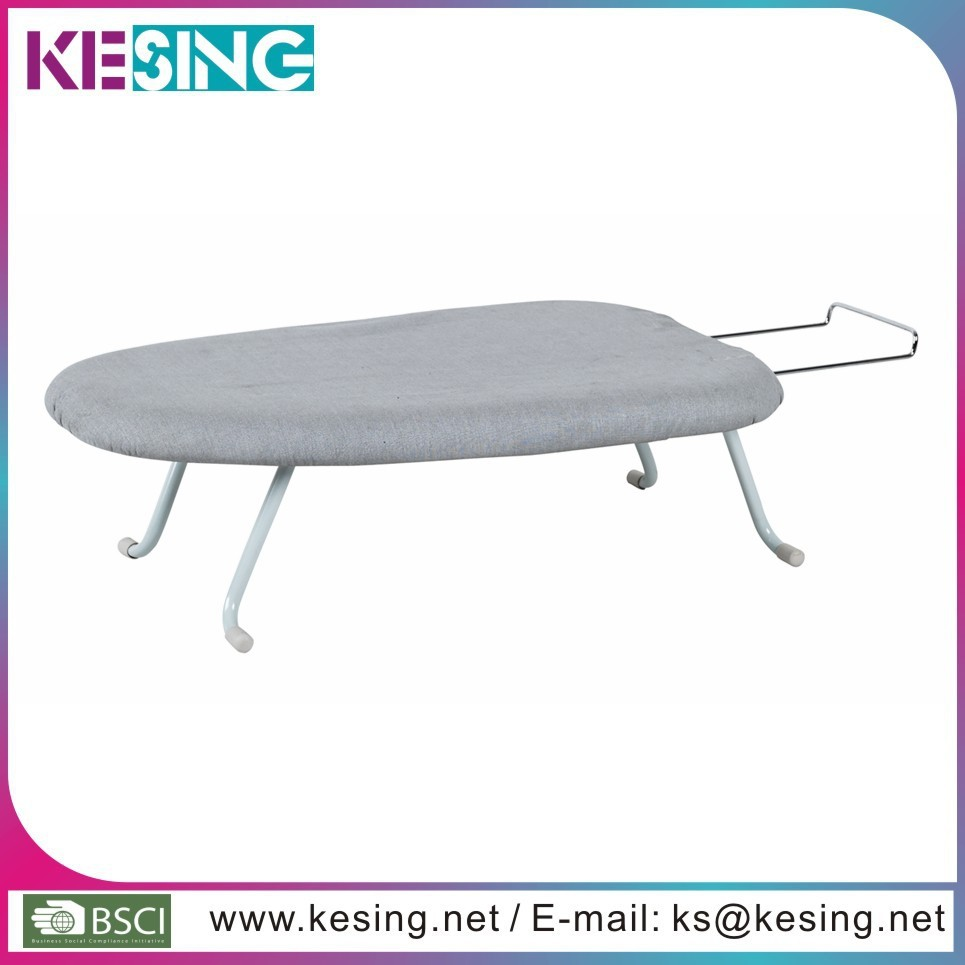 Plastic board mini small table ironing board with wire iron nest