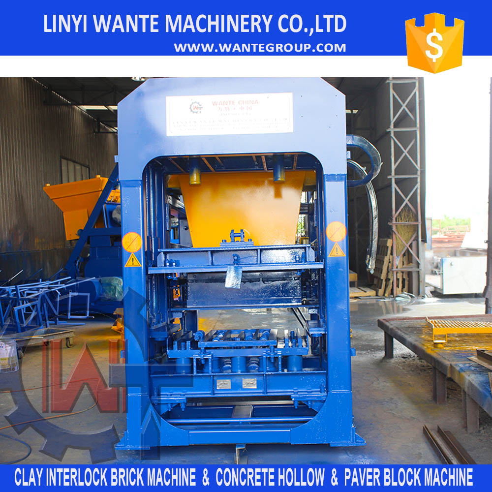 QT6-15 fully automatic compressed hollow paver curbstone cement sand block making machine