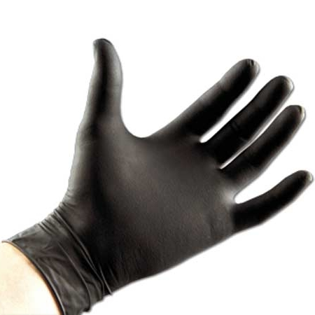black nitrile disposable gloves Nitrile Glove Powder Free 3.5 mil exam gloves