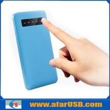5600 mAh Slim rectangle power bank, Touch power supply, portable power supply