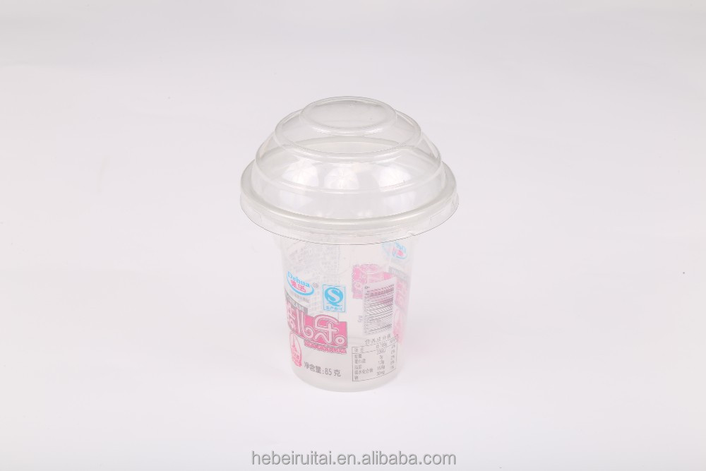 5oz Healthy PLA Material Single Wall Plastic PP Material Juice Yeti Ice Cream Plastic Cup