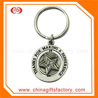 2016 Hot sale soft enamel round metal keychain