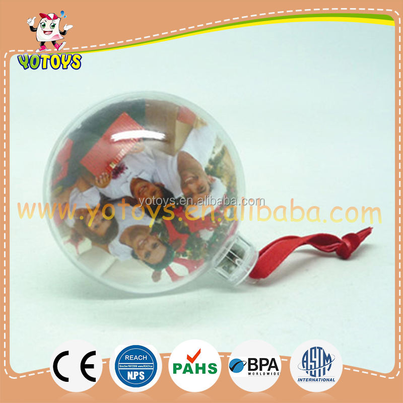 Christmas ball photo frame family photo bauble for chirstmas tree