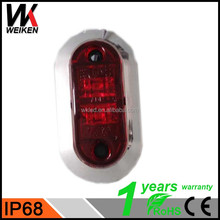 WEIKEN AMBER LED side marker, reflector and clearance lamp Truck Trailer DOT,SAE,ECE approval