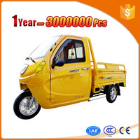 firm electric garbage tricycle with big cargo cabin