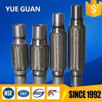 45x203x303 hot sale exhaust flexi tubes with nipple, exhaust pipe