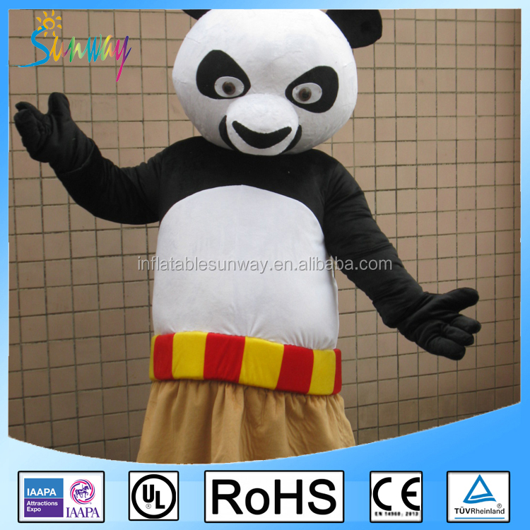 Cute Customized Panda Mascot Costumes Chinese Panda Mascot Costume for Cosplay