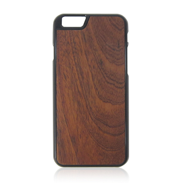 PC bottom phone case,trapezoidal hole camera phone case, wooden stick case for iPhone6