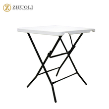 plastic China high quality folding table in square design modern table