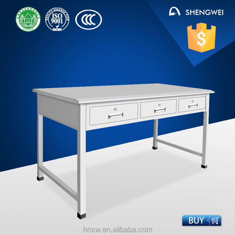 2016 luoyang steel cheap office desk low price computer desk