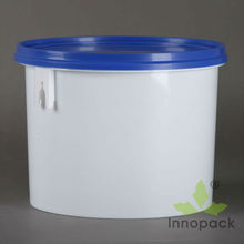 2.5L round with lid small plastic container