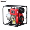 4 inch Air-cooled electric start diesel water pump with square pipe red color