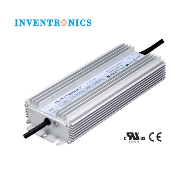 For US Market Inventronics 300W 24Vdc Constant Voltage 0-12.5A Output IP67 Waterproof LED Driver High Power Supply EUV-300S024ST