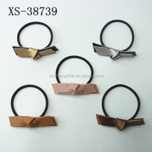 Korean Style Hair Accessories Leather Bowknot Elastic Hair Tie