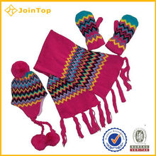 Jointop Factroy Directly Knitted Baby Hat And Glove Sets